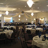 Blue and Gold Prom- Dance Canopy with Blue and Gold Balloon Center.<br /> Maneeley's in South Windsor