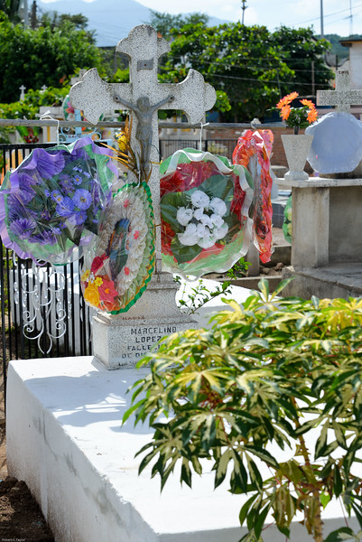 Day of the Dead celebration has the grave covered with flowers, food and a glass of water that they feel the dead use to hydrate as the level of water in the glass lowers, over the days of celebration -- we call it evaporation.