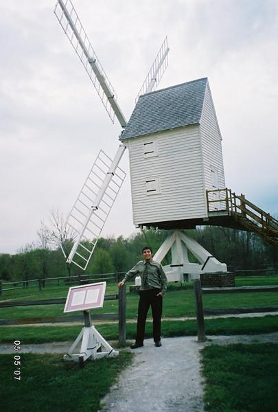 Malek loved the huge windmill.
