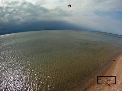 Lake Michigan from a Kite on the beach near Club Mantou at the Homestead Resort, Glen Arbor, Michigan.  © Copyright m2 Photography - Michael J. Mikkelson 2009. All Rights Reserved. Images can not be used without permission.