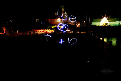 We love T + D  Light Art during the Bonfire Reception at Club Manitou at the Homestead Resort in Glen Arbor, Michigan.  Tim and Darby tributes with light and long exposures.  © Copyright m2 Photography - Michael J. Mikkelson 2009. All Rights Reserved. Images can not be used without permission.