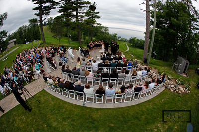 Mountain Top Ceremony at the Homestead Resort in Glen Arbor, Michigan for Darby Renneckar and Tim Sugar.© Copyright m2 Photography - Michael J. Mikkelson 2009. All Rights Reserved. Images can not be used without permission.