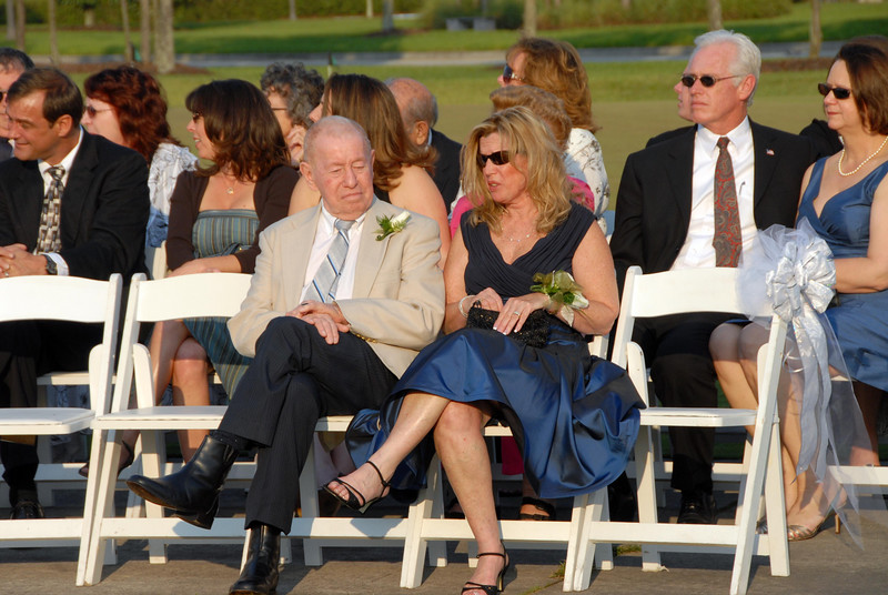 Grandpa Fagan and Aunt Cheryl (the grooms mother) wait for the ceremony to get started.