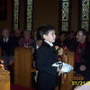 Keegan as the ring bearer