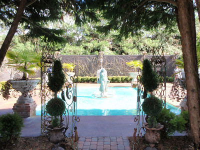 Fountain adjoining the ceremony area