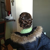 Scout's wedding hair.