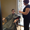Scout getting her hair done.