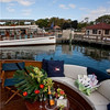 Aft deck aboard the Lorelei.  Flowers by Lilypots, Champagne Flute's & Bucket by Abbellimento, invitations by RSVP