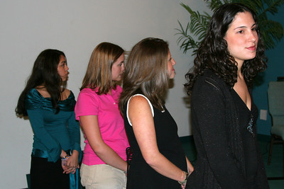 The bridal party (left to right): Jennifer, Catherine, Carrie, and Jennifer.