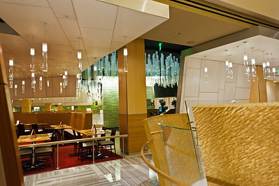 """""""The Buffet"""" at Aria, through the window glass..."""
