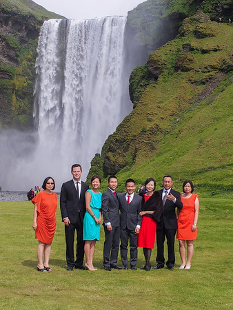 EC Wedding- Skogafoss Waterfall 6-30-13
