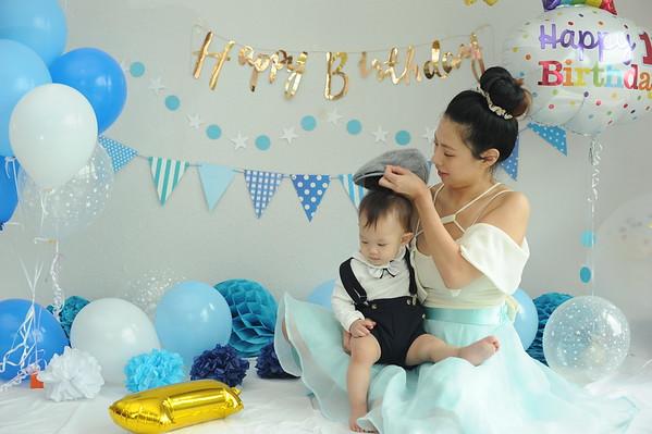 20180108 Baby Evan Cake smash