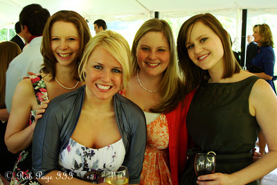 The girls at Mike & Emily's wedding - Asheville, NC ... April 30, 2011 ... Photo by Rob Page III