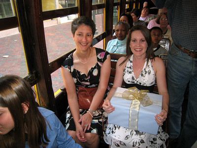 Tessa and Monica on the Trolley