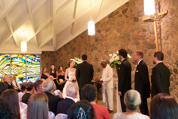 The wedding party at St Paul's Chapel.  It was such a beautiful, colourful and intimate place.