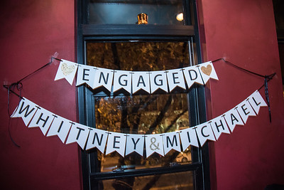 Engaged! Congrats Whitney and Michael