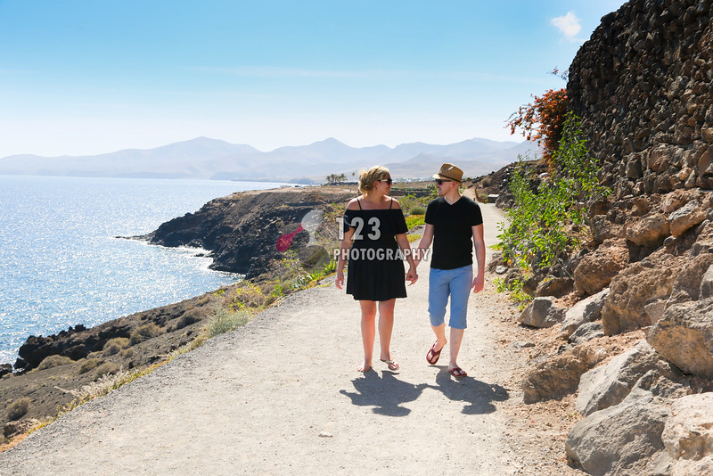Rochelle and Robert's engagement photography Lanzarote