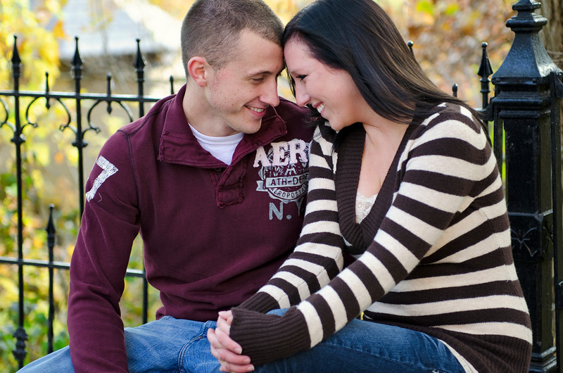 Engagement photo at Holy Hill.