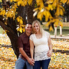 Newly engaged couple TeNari and Mike celebrate their new found commitment in Bowness park, Calgary.