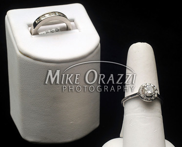 6/21/2012 Mike Orazzi | Staff Engagement rings at DBK Family Jewelers in Plainville.
