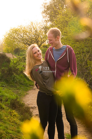 Sarah and Dan's engagement photography Otley Chevin