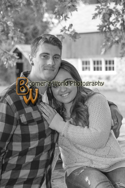 Jessica and Chris Engagement 10-9-16   19 BW