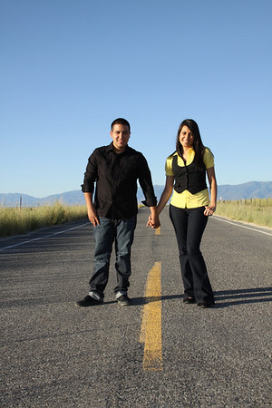 Leslie & Rafel (engagements, Great Salt Lake)
