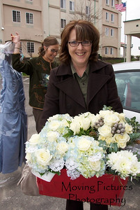 Erin & Evan Wedding - mother of the bride in charge of flowers