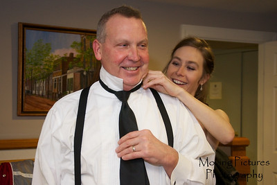 Erin & Evan Wedding - helping Dad get ready