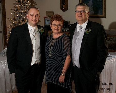 Erin & Evan Wedding - Evan with his parents