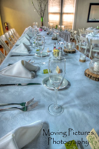 The bridal party table