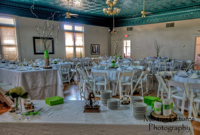 The reception room at Jeeves & Co., before guests arrived