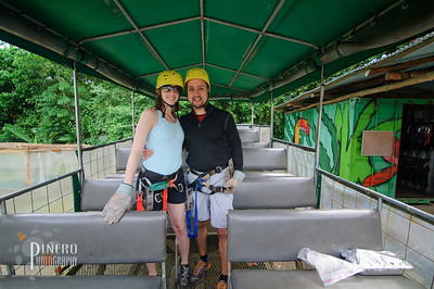 On our way to the canopy zip line. Copyright Samuel Pinero 2009