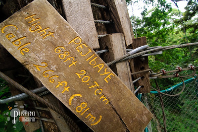 I hope these folks are better at their zip lining skills than their English. Copyright Samuel Pinero 2009