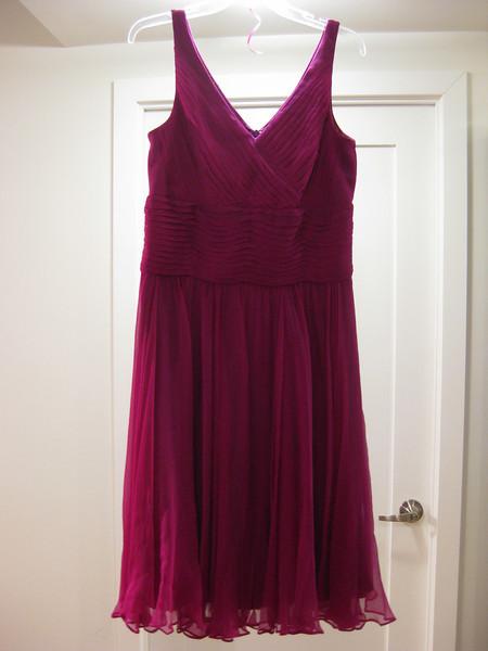 The dress (gorgeous colour!)