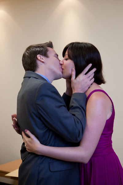 Kissing the bride...