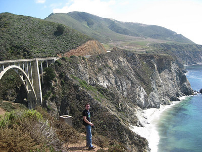 James and the spectacular California coastline
