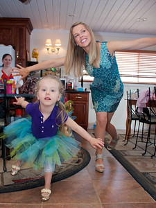 Brea and Mom pose for the camera