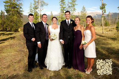 Errin Courtney and Dave Bald's wedding at Wild Horse Inn in Fraser, Colorado on September 15, 2012.
