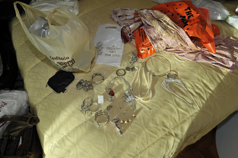 Alejandra's Stuff...I think she wasnt sure about what jewlery to wear that night...<br /> ~Eva~