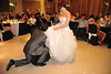 This is another tradition in wedding parties. The groom has to get the garter from the bride's leg and throw it to the single men at the party.<br /> ~Eva~