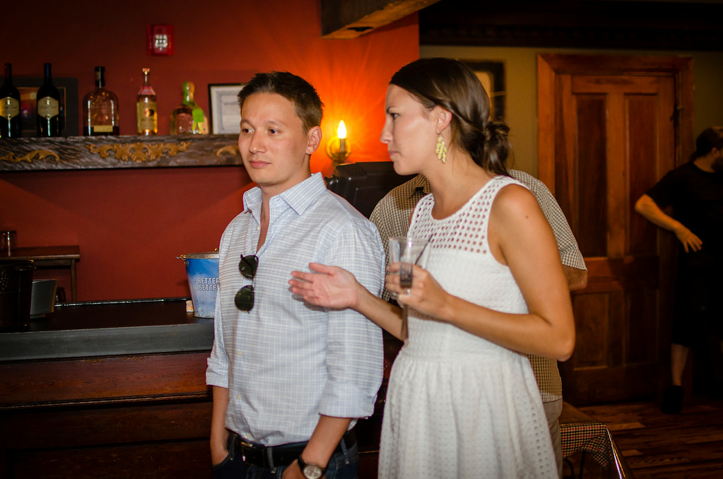 jess and pete rehearsal dinner at Dinosaur BBQ