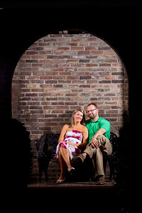 Ashley & Bryan at Gratz Park in downtown Lexington 8.24.2011