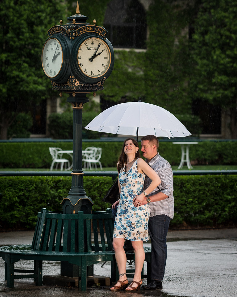 Jen & Justin photo session at Keeneland 5.09.14.