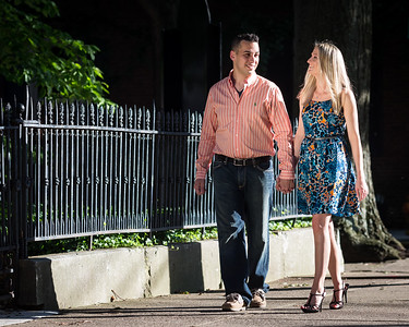 Laura & Ed's engagements in downtown Lexington & Keeneland 7.15.13