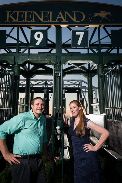 Leslie & Kevin's engagements at Keeneland 7.16.13.