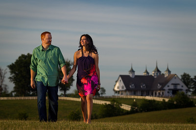 Engagement photography at Keeneland with Rana & Josh 5.11.2012.