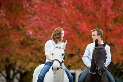 Lexington Engagement photography at Keeneland with Rosie & Joe, 10.21.14.