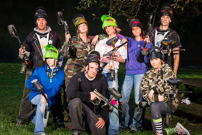 "Stormie & Kurt's ""Wedding Party Paintball"" outing 9.12.13."