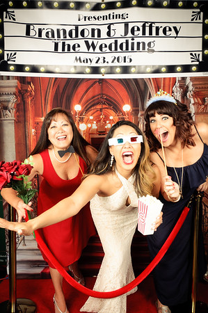 Brandon & Jeffrey's Hollywood Wedding Photo Booth